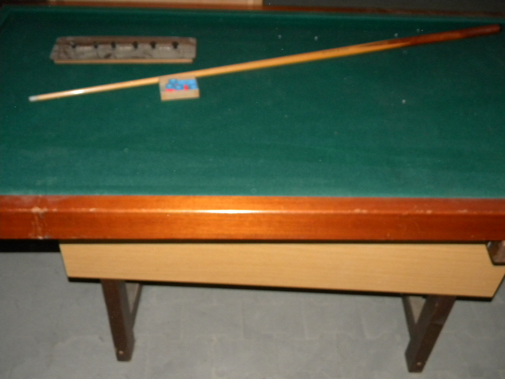 Heemskerk drieband biljart tafel afm 176x95x84 cm inclusief keu scorebord en krijt kavel nr - Decoratie biljart ...