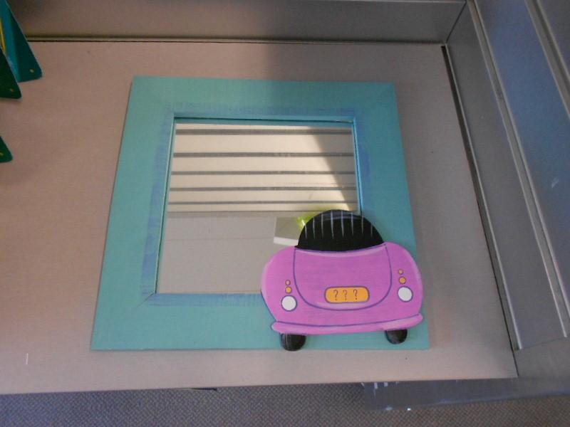 Spiegel met auto 30x30 cm kavel nr 430572 eindtijd 28 for Spiegel 30x30