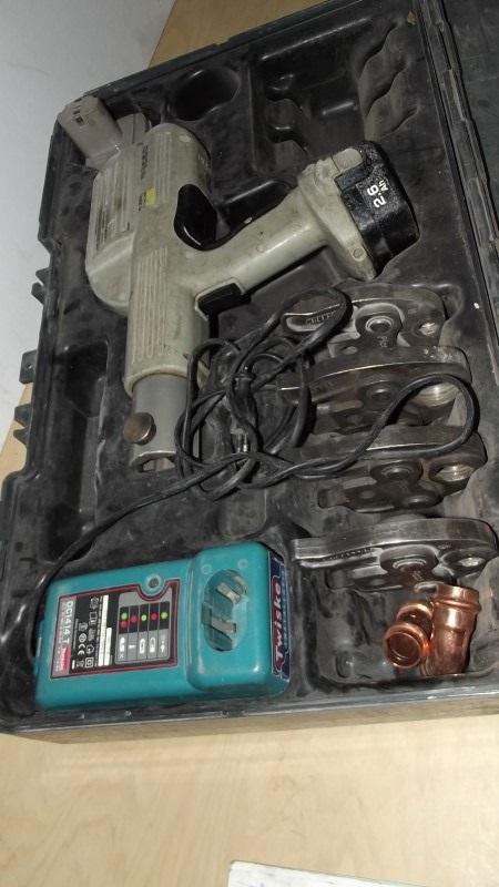 Viega pico electro hydraulische perstang accu draaibaar met 4 bekken kavel nr 506224 eindtijd - Decoratie bekken ...