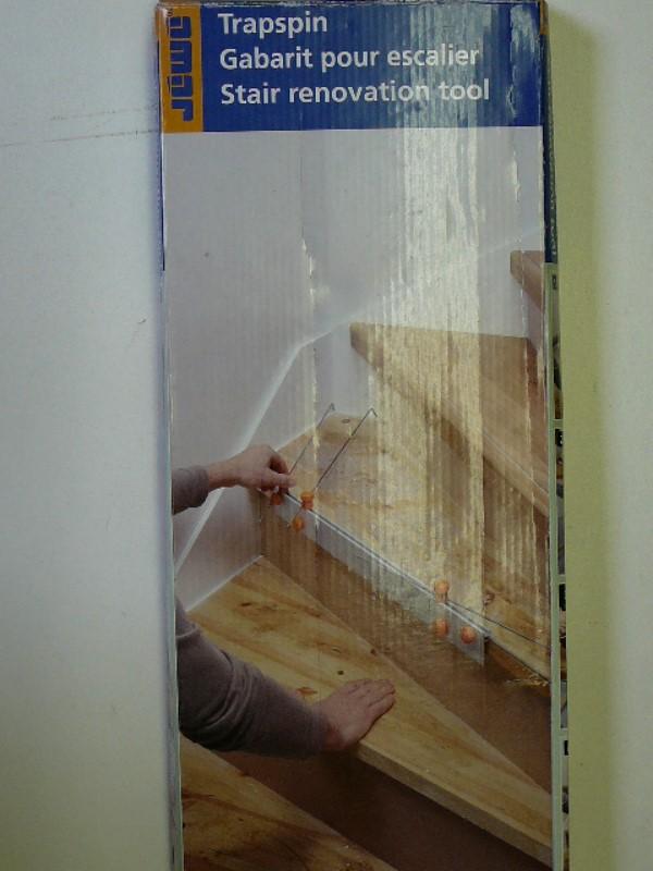 Trap renovatie tool voor het nauwkeurig opmeten van for Traptreden opmeten