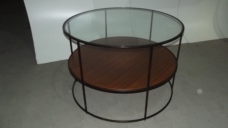 Presentatie rondo hoogte 82cm met glazen plaat for Glazen plaat